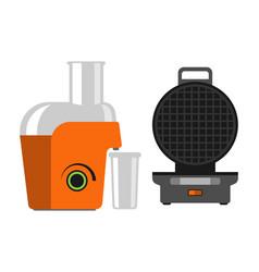 electric orange juicer isolated on white vector image