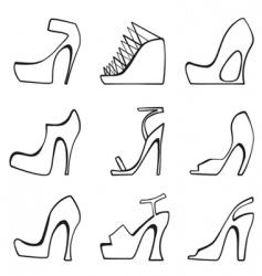 fashion women shoes vector image vector image