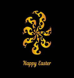 Greeting card with golden easter egg-3 vector image vector image