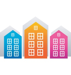 house stickers vector image