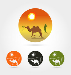 isolated abstract desert logo vector image vector image