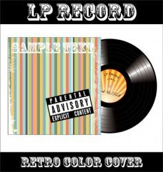 LP vinyl record vector image