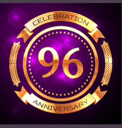 ninety six years anniversary celebration with vector image vector image
