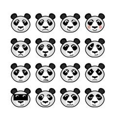 panda emoticon vector image vector image