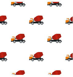 truck concrete mixer pattern flat vector image vector image
