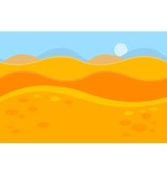Cartoon Landscape of Yellow Desert Dunes for Game vector image
