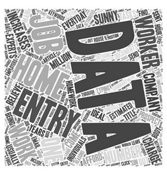 Data Entry Jobs Increases Word Cloud Concept vector image