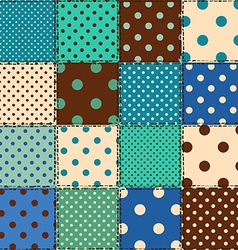Seamless pattern of polka dot patchworks vector image