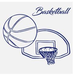 street basketball ball flies into ring vector image