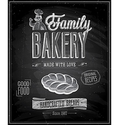 bakery chalk vector image vector image