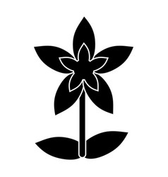 Flower tropical exotic pictogram vector
