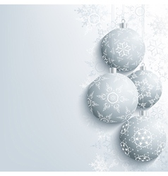 New Year and Christmas card with christmas ball vector image