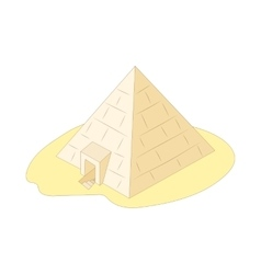 Pyramid of Giza Egypt icon cartoon style vector image
