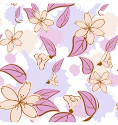 seamless floral pattern in pas vector image vector image