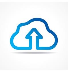 Blue cloud make a business arrow stock vector image