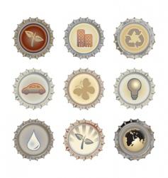 bottle caps set vector image vector image