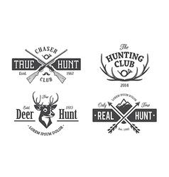 Hunt Emblems 1 vector image