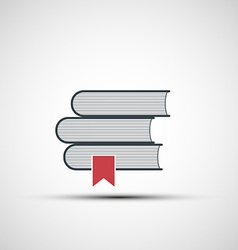 icons stacks of books vector image vector image