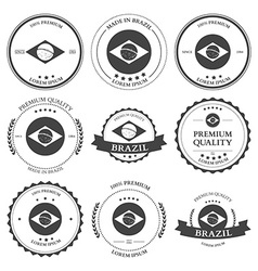 Made in Brazil seals badges vector image vector image