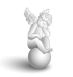 Sitting angel vector image