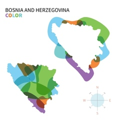 abstract color map of bosnia vector image