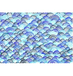 Abstract ocean wave watercolor background vector