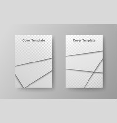 abstract stylish covers template vector image