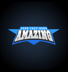 amazing power full typography t-shirt graphics vector image