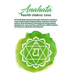 Anahata chakra symbo vector