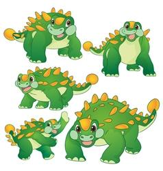 Ankylosaurus green vector image