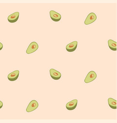 avocado seamless pattern for print fabric vector image