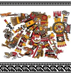 Aztec god vector image