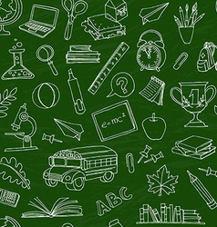back to school seamless pattern kids doodles vector image