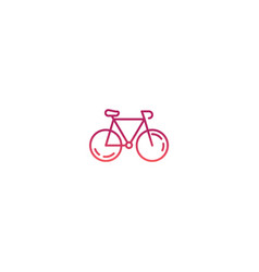 bike icon bike isolated vector image