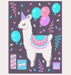 birthday aplaca vector image