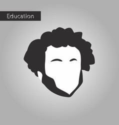 Black and white style icon man vector