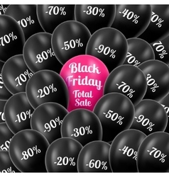 Black Friday Realistic black vector image