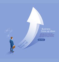 business grow up arrow ideas vector image
