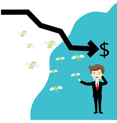 Businessman failure finance vector image