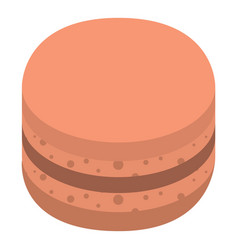 cacao macaroon icon isometric style vector image