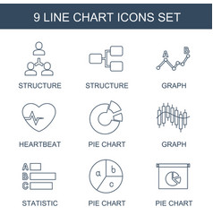 chart icons vector image