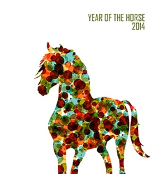 Chinese new year of the Horse shape bubbles EPS10 vector image