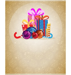 Christmas presents and ornaments vector image