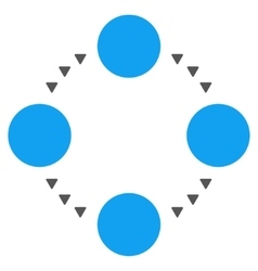 Circular Relations Flat Symbol vector
