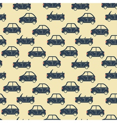 city car pattern blue vector image
