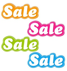 Color Sale Stickers Set vector image