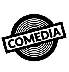Comedy black stamp vector