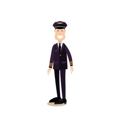 commercial airlines pilot vector image