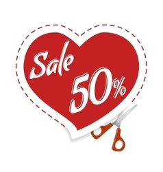 Cut Cupid for discounts vector image