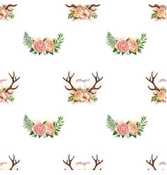 Deer anller pattern vector